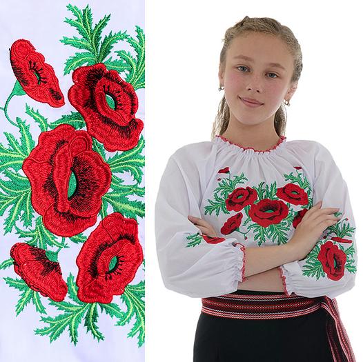 Блузка вышитая для девочек 7-12 лет Соломия