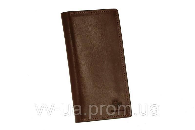 Портмоне Grande Pelle Сinturino, темно-коричневый, кожа