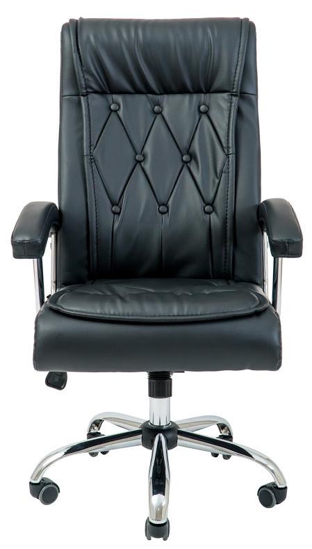 Офисное кресло для руководителя Richman Телави черного цвета