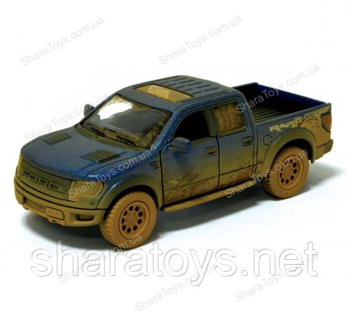 Машинка Kinsmart грязный Ford F150 SVT Raptor