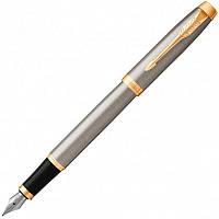 Ручка перьевая Parker IM 17 Brushed Metal GT FP F (22 211)