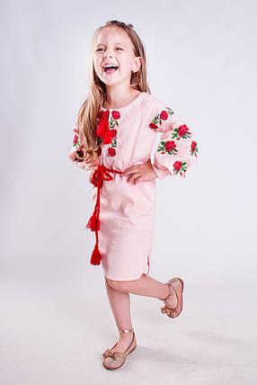 Платье вышиванка для девочки Розочка, фото 2