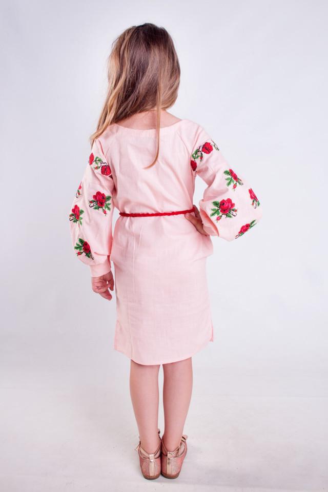Платье вышиванка для девочки Розочка