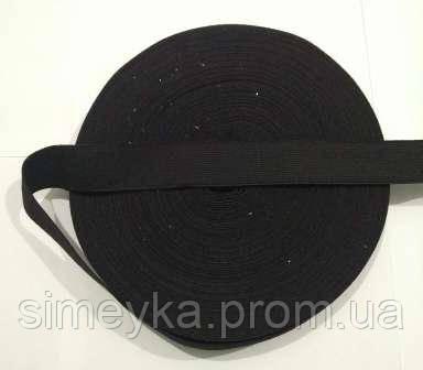 Резинка для шиття, ширина 2,5 см. Чорна