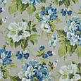 Декоративная ткань для штор, крупные цветы серо-синий, фото 2