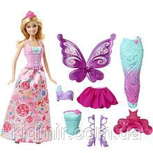 Кукла Барби Перевоплощение Принцесса, Русалка, Фея Бабочка Barbie Fairytale Dress DHC39