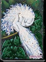 Набор для вышивания бисером на холсте АбрисАрт AB-398 Белоснежный символ счастья
