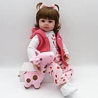 Кукла реборн Карина, мягконабивная 45 см, ручная работа
