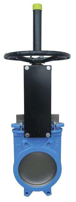 Задвижка чугунная шиберная DN 600 PN10 однонаправленная с ручным приводом, межфланцевая серия А (СМО Испания)