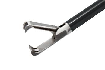 Зубчатый зажим, короткий (2х3 зубчиков)