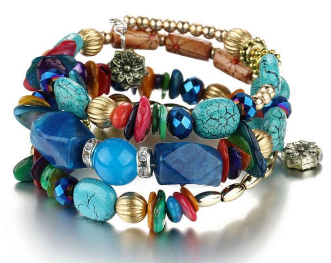 Женский браслет-пружина Primo Stone Cuff - Color