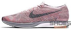 Женские кроссовки Nike Flyknit Racer Strawberry 526628-604, Найк Флайнит
