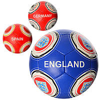 М'яч футбольний 2500-16ABC розмір 5, ПУ, 4 шари, 32 панелі, 3 види, 400-420 гр