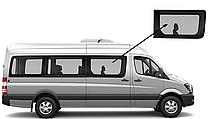 Боковое стекло длинная база переднее правое Mercedes Sprinter 2006-2018