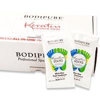 Набор кератиновых носочков для педикюра BODIPURE (50 пар)