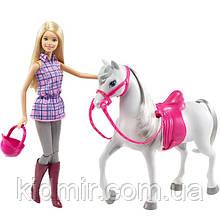 Лялька Барбі і Кінь Прогулянка верхи Barbie Doll and Horse DHB68