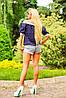Женская блузка с открытыми плечами и широким рукавом (0888-0887 svt), фото 4