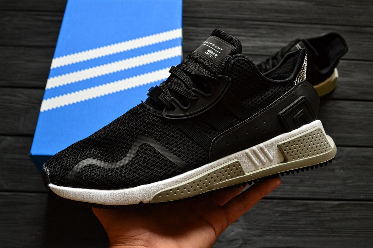 Кроссовки Adidas EQT Cushion ADV Core Black White. Живое фото. Топ качество! (Реплика ААА+)