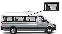 Боковое стекло длинная база среднее правое Mercedes Sprinter 2006-2018