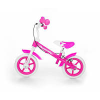 Milly Mally Беговел Dragon Pink с ручным тормозом