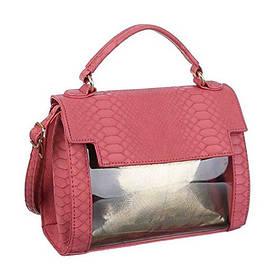 Маленькая прозрачная сумка под рептилию (Европа) Красный