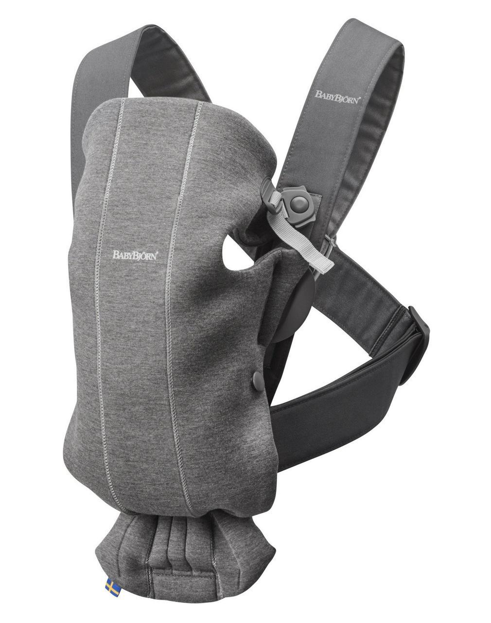BabyBjorn - рюкзак-кенгуру для младенцев MINI 3D Джерси, темно-серый