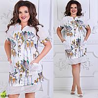 Красивое женское платье большого размера 52-58