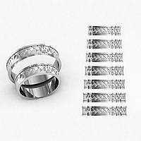 Кольца парные,обручальные Косичка КВ-774