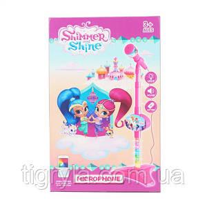 Микрофон детская игрушка на стойке, подключается к телефону, Караоке