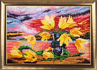 Набор для вышивания бисером Желтые тюльпаны БФ 234
