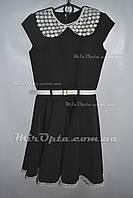 Школьное платье для девочки (р. 122 - 140 см) купить оптом со склада