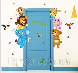 Интерьерная наклейка в детскую комнату - Зверята