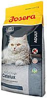 Josera Catelux корм для кошек, выведение комков шерсти, 10 кг