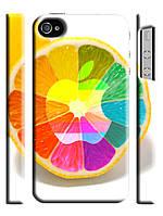Чехол  для iPhone 4/4s  Apple лимон