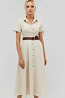 Женское летнее расклешенное платье-рубашка (Indes crd)