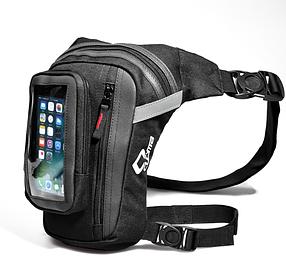 Набедренная мото сумка с отделением под телефон сумка на ногу на бедро