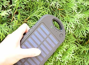 Павер Банк на солнечной батарее 10000 mah (реплика) Черный