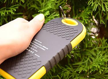 Павер Банк на солнечной батарее 10000 mah (реплика) Желтый