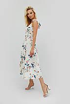 Вискозное летнее платье миди с цветочным принтом (Rous crd), фото 3