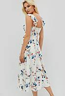 Вискозное летнее платье миди с цветочным принтом (Rous crd)