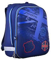 Рюкзак школьный каркасный Yes H-12 Route 66, для мальчиков, синий (554599)