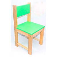 Детский стульчик, деревянный, 60 см Салатовый