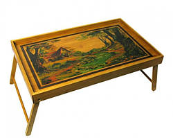 Бамбуковый столик для завтрака Горная река
