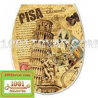 """Пластиковое сиденье с крышкой для унитаза """"Пизанская башня"""" (Pisa), Elif Plastik (Элиф)"""