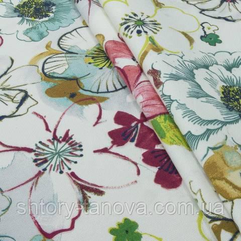 Декоративная ткань для штор, гавайские леи мультиколор