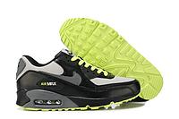 Мужские кроссовки Nike Air Max 90 черные с серым