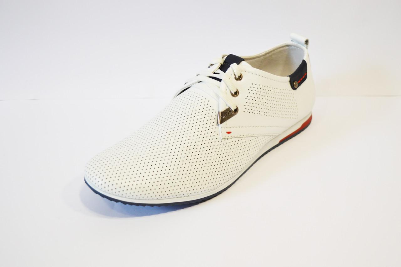 Белые кожаные туфли Davis
