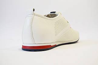 Белые кожаные туфли Davis, фото 2