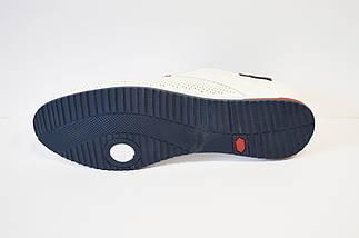 Белые кожаные туфли Davis, фото 3
