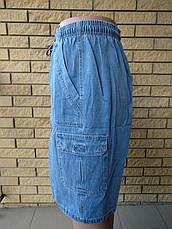 Бриджи мужские джинсовые, пояс на резинке MAVENS, фото 2